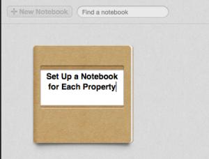 Evernote notebook creation