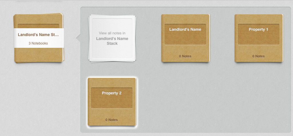 Landlord Stack with Property Info