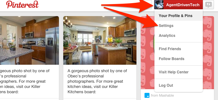 How to Get to Pinterest Settings