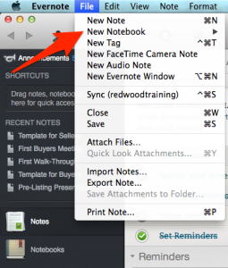 New Notebook in Evernote 1