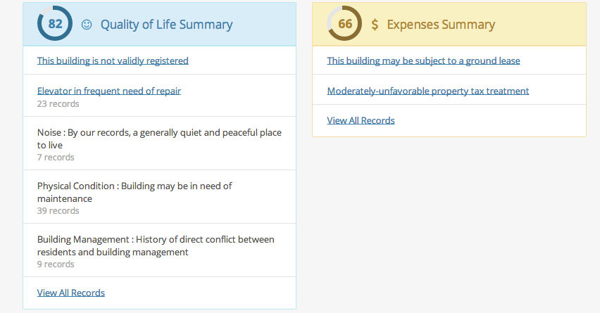 Revaluate Quality of Life and Expenses Summaries