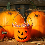 Pumpkins and Halloween candy