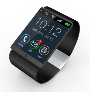 closeup of a modern smartwatch